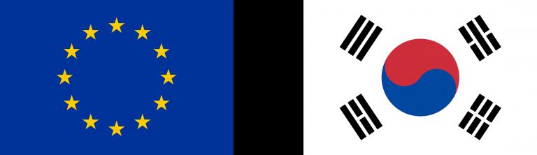 EU and Korea flag